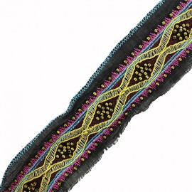 40 mm Oriental Braid - Black Dukhan x 50cm