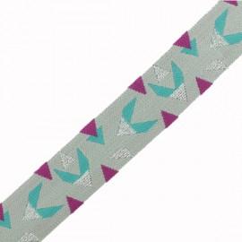 35 mm Lurex Elastic Band - Grey Volifil x 1m
