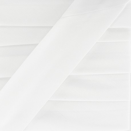 Biais Uni Stretch - Blanc x 1m