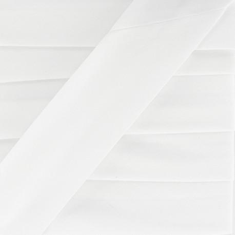 Plain Stretch Bias Binding - White x 1m
