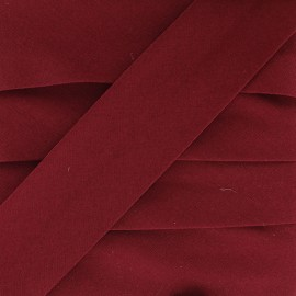 Plain Stretch Bias Binding - Garnet x 1m