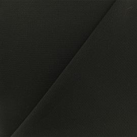 Waffle stitch aspect Neoprene scuba fabric - Black x 10cm