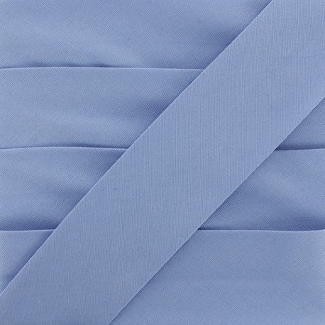 Plain Stretch Bias Binding - Blue x 1m