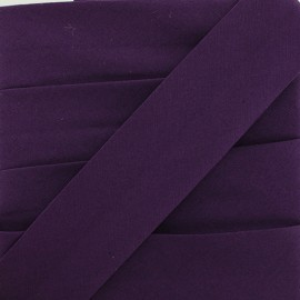 Plain Stretch Bias Binding - Purple x 1m