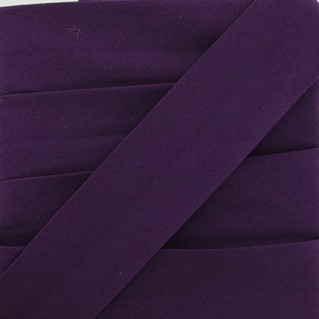 Plain Stretch Bias Binding - Purple x 1m