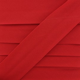 Plain Stretch Bias Binding - Red x 1m
