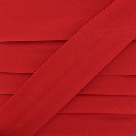Plain Stretch Bias Binding - Red x 1m