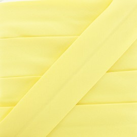 Plain Stretch Bias Binding - Yellow x 1m