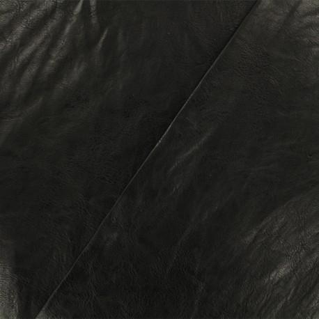 Simili cuir frappé Paolo - noir  x 10cm
