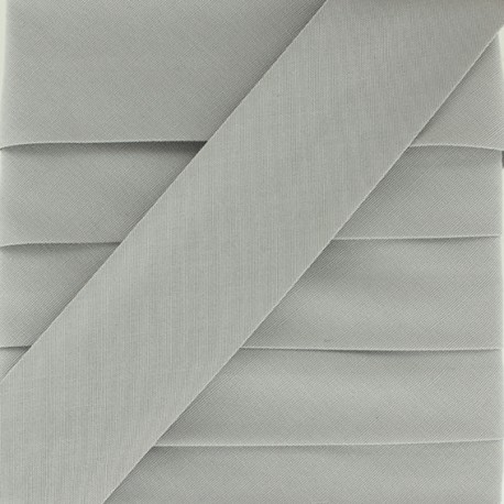 Plain Stretch Bias Binding - Grey x 1m