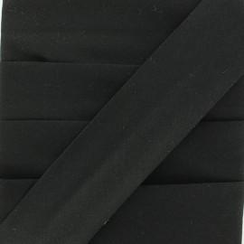 Biais Elastique Uni - Noir x 1m