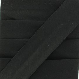 Plain Stretch Bias Binding - Black x 1m