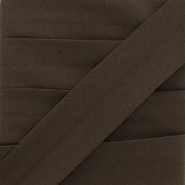 Biais Elastique Uni - Marron x 1m