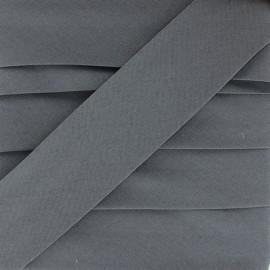 Biais Elastique Uni - Gris Anthracite x 1m