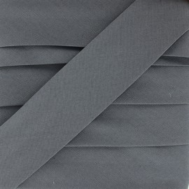 Biais Stretch Uni - Gris Anthracite x 1m
