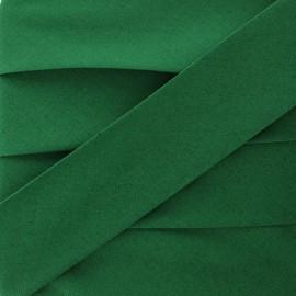 Biais Stretch Uni - Vert Forêt x 1m