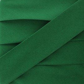 Plain Stretch Bias Binding - Forest Green x 1m