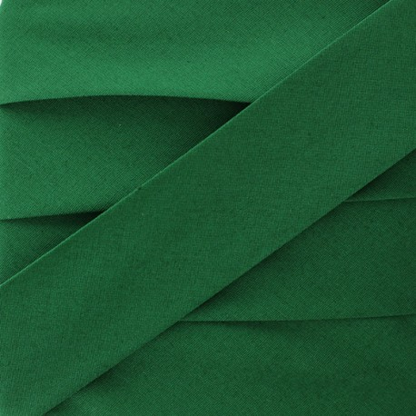 Plain Stretch Bias Binding - Forest Green x 1m