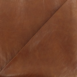 Strucked leather imitation fabric - cognac Paolo x 10cm
