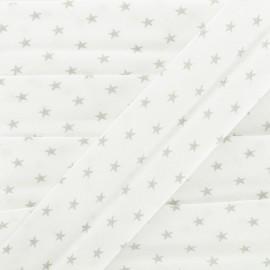 Cotton Bias Binding - Grey Star x 1m