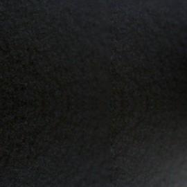 Velvet Fusible fabric - noir x 10 cm