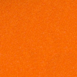 Tissu thermocollant velours - orange x 10 cm