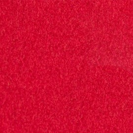 Tissu thermocollant velours - rouge x10 cm