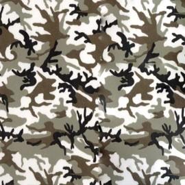 Velvet Fusible fabric - Army x 10 cm