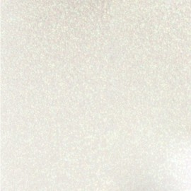 Glitter Fusible fabric - white snow x 10 cm