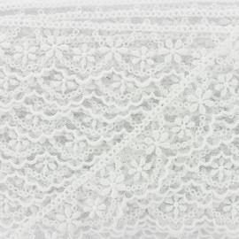 Ruban Tulle Brodé Lynette - Blanc x 1m