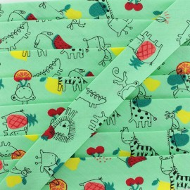 Organic Cotton Bias Binding - Green Fruits & Co. x 1m