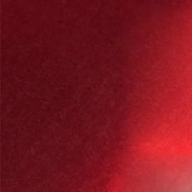 Tissu thermocollant métal - rouge  x10 cm
