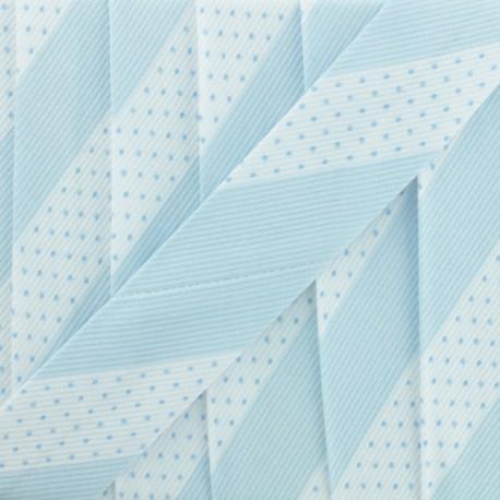 Poly Cotton Bias Binding - Sky Blue Dot Stripe x 1m