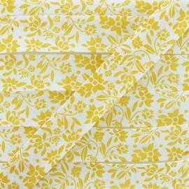 Polycotton Bias Binding - Yellow Alyza x 1m