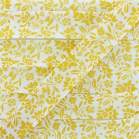 Polycotton Bias Binding - Yellow Alyza x 1m