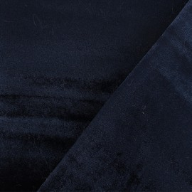 Tissu velours double face Elena - Bleu marine x10cm