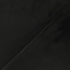 Tissu velours ras double face Elena - noir x10cm