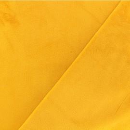Tissu velours ras double face Elena - jaune x10cm