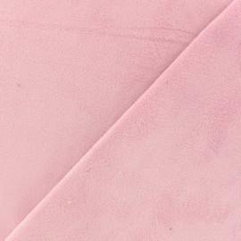 Tissu velours ras double face Elena - vieux rose x10cm