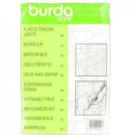 Plastic tracing sheets Burda - white