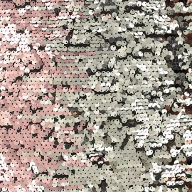 Reversible sequin Fabric - gold/bronze/pink Andy x 10cm