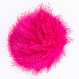 Round Faux Fur Pom Pom - Fuchsia Unic