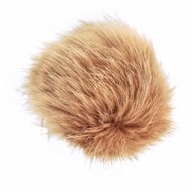 Round Faux Fur Pom Pom - Beige Unic