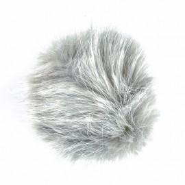 Round Faux Fur Pom Pom - Pearl Grey Unic