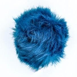 Round Faux Fur Pom Pom - Blue Unic