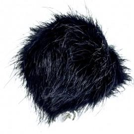 Round Faux Fur Pom Pom - Navy Unic