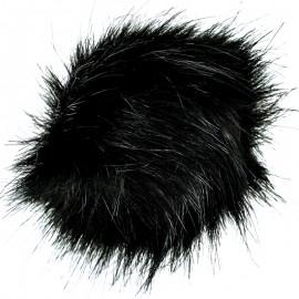 Round Faux Fur Pom Pom - Black Unic
