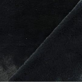 Tissu Néoprène Scuba velours - noir x 10cm