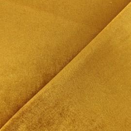Velvet aspect Neoprene scuba fabric - Yellow x 10cm
