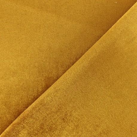 Tissu Néoprène Scuba velours - jaune x 10cm